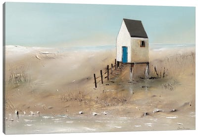 Beach Cabins II Canvas Art Print