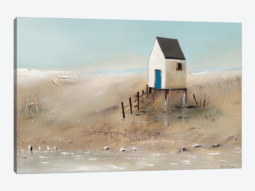 Beach Cabins II by Jean Jauneau 1-piece Canvas Art Print