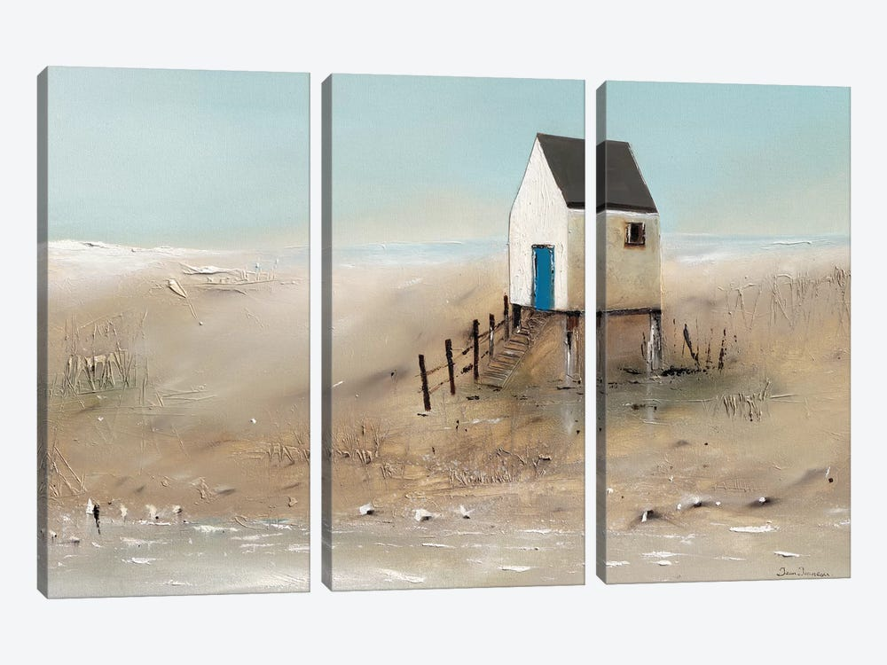 Beach Cabins II by Jean Jauneau 3-piece Canvas Art Print