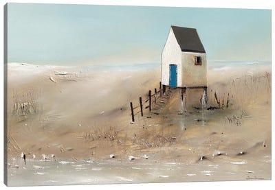 Beach Cabins II Canvas Art Print