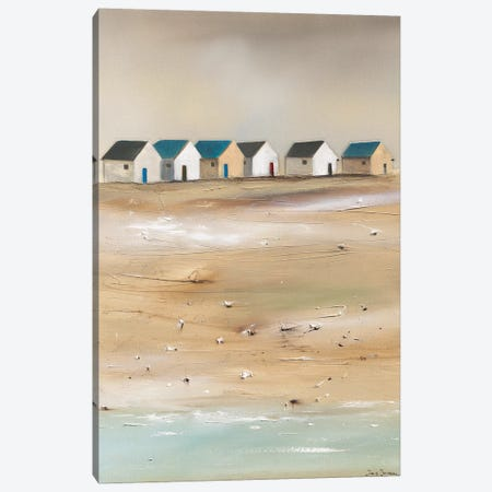 Beach Cabins III Canvas Print #JJA3} by Jean Jauneau Canvas Art