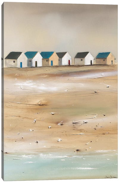 Beach Cabins III Canvas Art Print