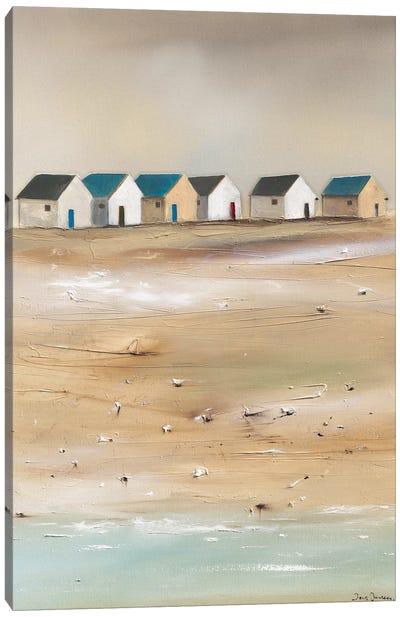 Beach Cabins III Canvas Art Print
