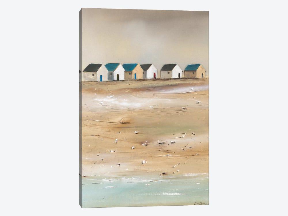 Beach Cabins III by Jean Jauneau 1-piece Canvas Art