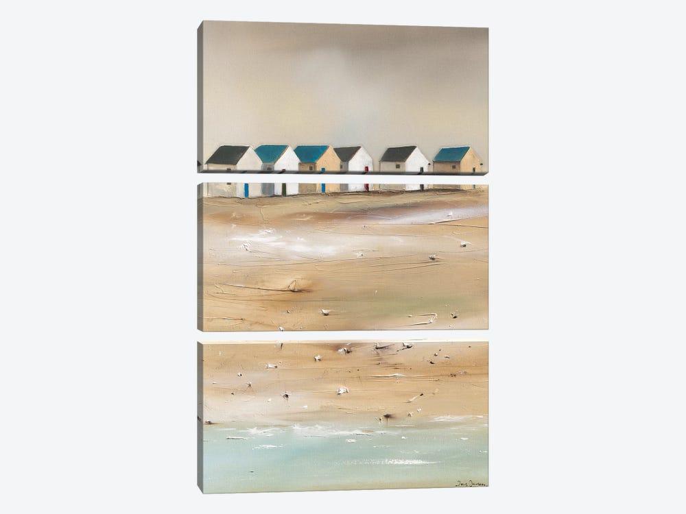 Beach Cabins III by Jean Jauneau 3-piece Canvas Artwork