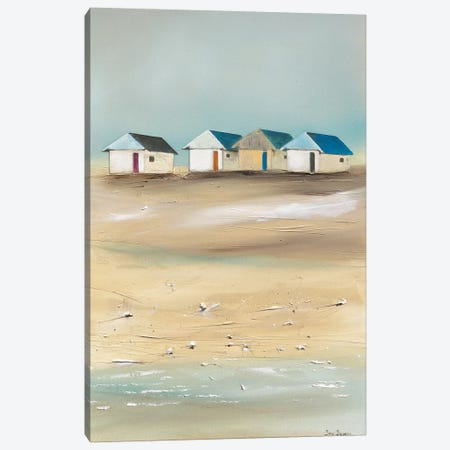 Beach Cabins IV Canvas Print #JJA4} by Jean Jauneau Art Print
