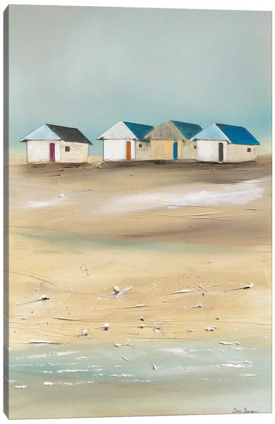 Beach Cabins IV Canvas Art Print