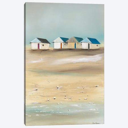 Beach Cabins IV Canvas Print #JJA4} by Jean Jauneau Art Print
