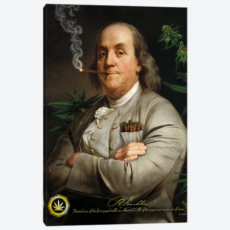 Ben's Cigar Canvas Print #JJB12} by JJ Brando Canvas Art Print