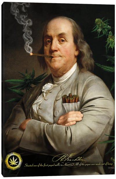 Ben's Cigar Canvas Art Print