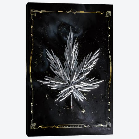 Carpe Cannabis Canvas Print #JJB15} by JJ Brando Canvas Artwork