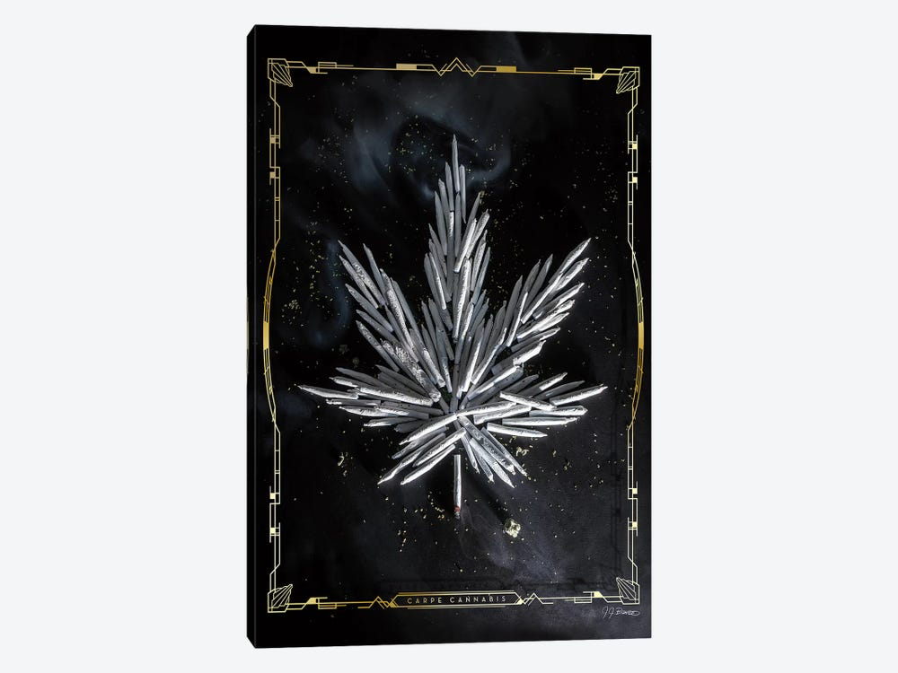 Carpe Cannabis by JJ Brando 1-piece Canvas Art Print
