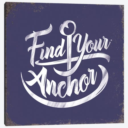Find Anchor Canvas Print #JJB21} by JJ Brando Canvas Art