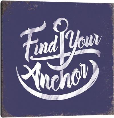 Find Anchor Canvas Art Print