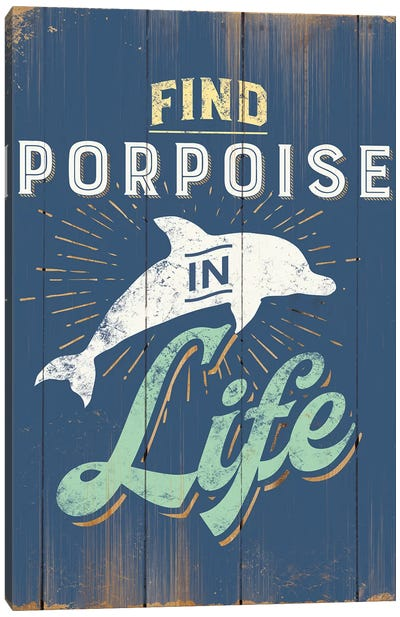 Find Porpoise In Blue Canvas Art Print
