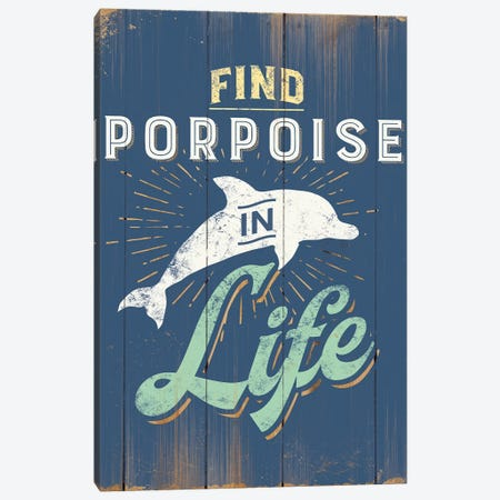 Find Porpoise In Blue Canvas Print #JJB23} by JJ Brando Canvas Artwork