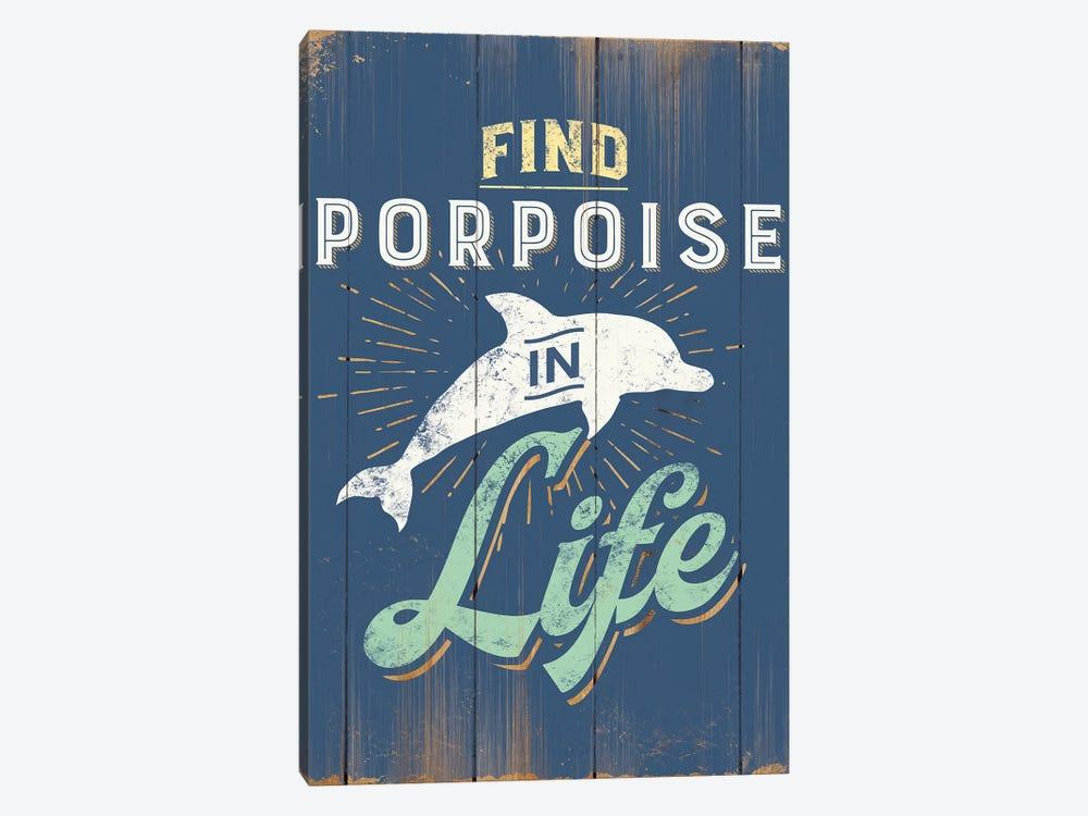 Find Porpoise In Blue by JJ Brando 1-piece Canvas Wall Art