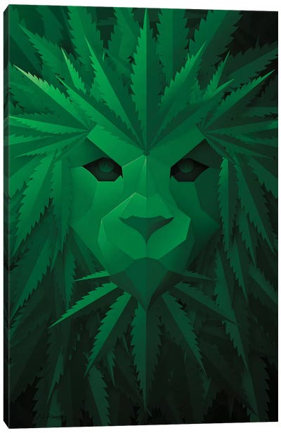 Green Lion Canvas Art Print