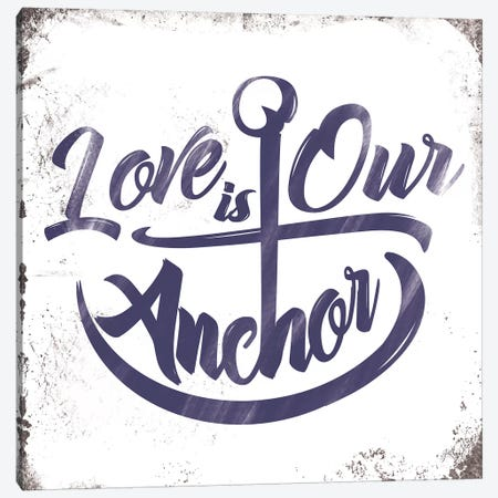 Love Anchor Canvas Print #JJB37} by JJ Brando Canvas Art
