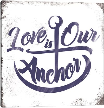 Love Anchor Canvas Art Print