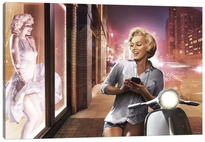 Marilyn Shop Window Canvas Art Print