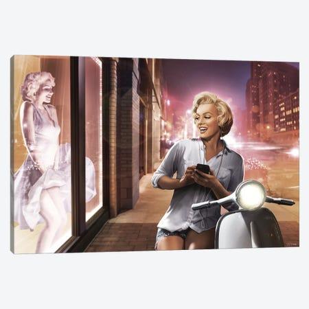Marilyn Shop Window Canvas Print #JJB40} by JJ Brando Canvas Artwork