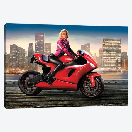 Marilyn's Ride I Canvas Print #JJB42} by JJ Brando Canvas Artwork