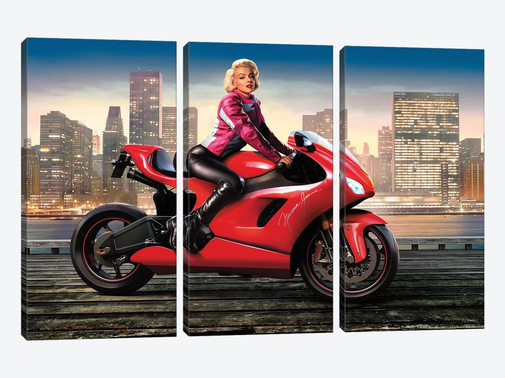 Marilyn's Ride I 3-piece Canvas Print