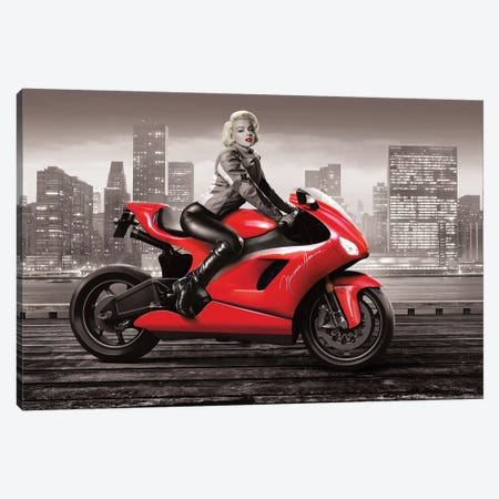 Marilyn's Ride II Canvas Print #JJB43} by JJ Brando Canvas Art