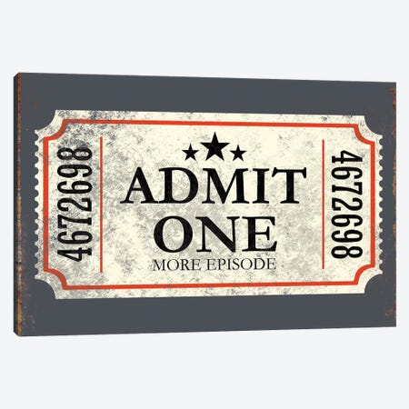 Admit One Canvas Print #JJB4} by JJ Brando Canvas Wall Art