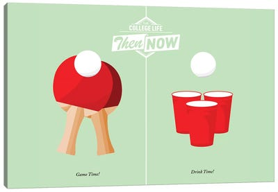 Pong Canvas Art Print