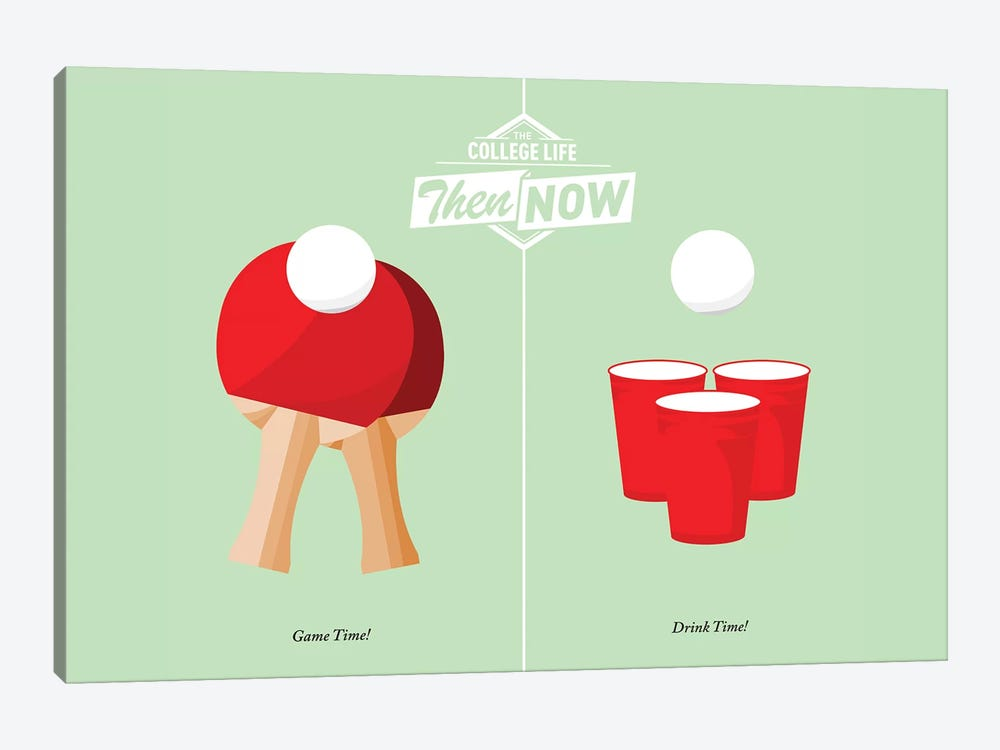 Pong by JJ Brando 1-piece Art Print