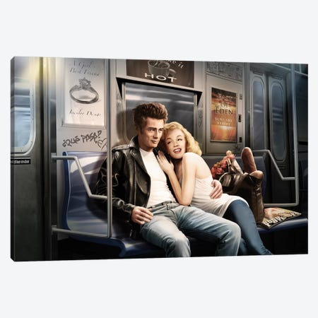 Subway Ride Canvas Print #JJB58} by JJ Brando Art Print