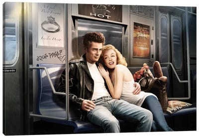 Subway Ride Canvas Art Print