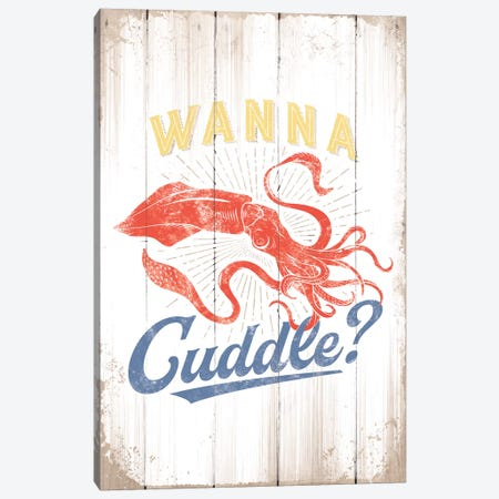 Wanna Cuddle Canvas Print #JJB61} by JJ Brando Canvas Wall Art