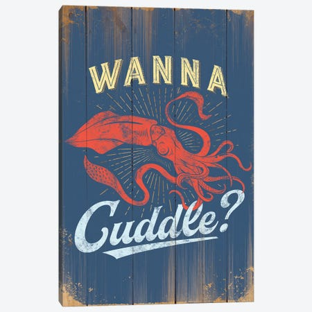 Wanna Cuddle In Blue 3-Piece Canvas #JJB62} by JJ Brando Canvas Wall Art