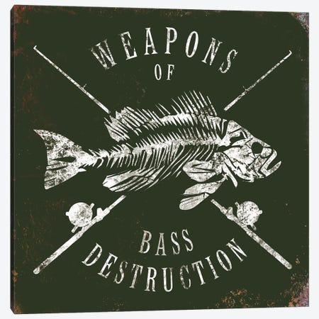 Weapons Of Bass 3-Piece Canvas #JJB64} by JJ Brando Art Print