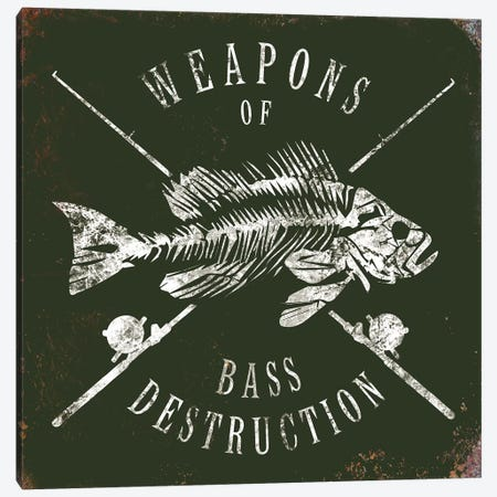 Weapons Of Bass Canvas Print #JJB64} by JJ Brando Art Print