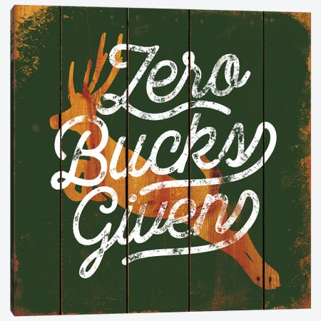 Zero Bucks Canvas Print #JJB66} by JJ Brando Canvas Print