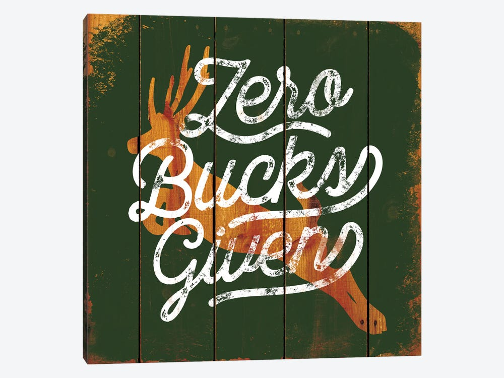 Zero Bucks by JJ Brando 1-piece Art Print