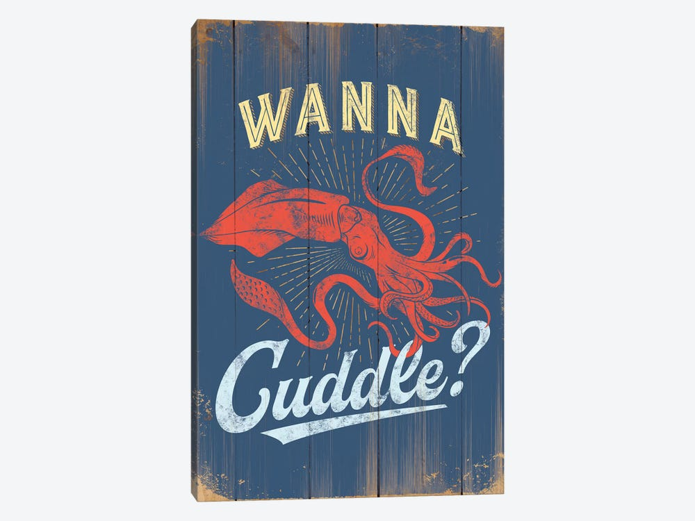 Punny Coastal III by JJ Brando 1-piece Canvas Art
