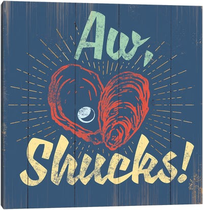 Aw Shucks In Blue Canvas Art Print