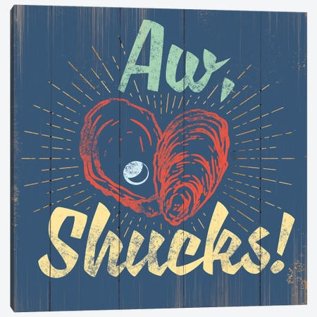 Aw Shucks In Blue Canvas Print #JJB6} by JJ Brando Canvas Artwork