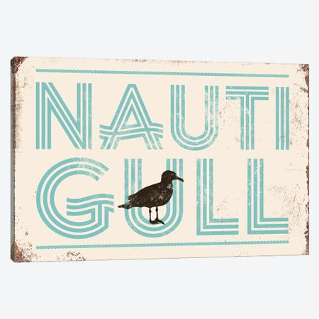 Nautigull Canvas Print #JJB76} by JJ Brando Canvas Wall Art