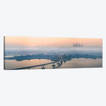 City In The Morning Mist Canvas Print #JJC4} by John J. Chen Canvas Print