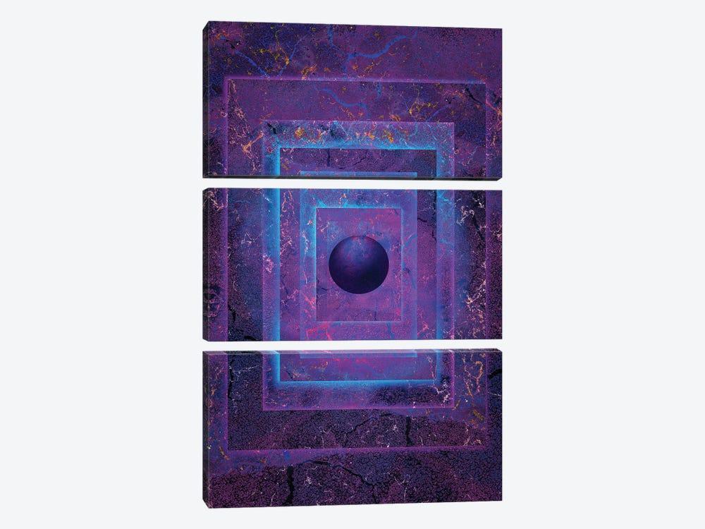 Glowing Orb by Jesse Johnson 3-piece Art Print