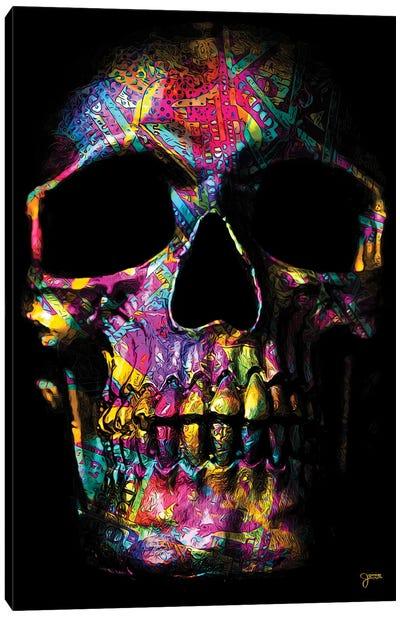 Pink Money Skull Canvas Art Print