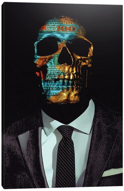 Suited Skull Canvas Art Print