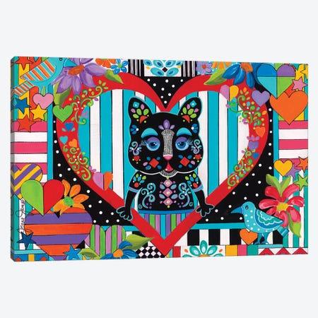 Valentine Cat Canvas Print #JJM74} by Jonna James Canvas Print