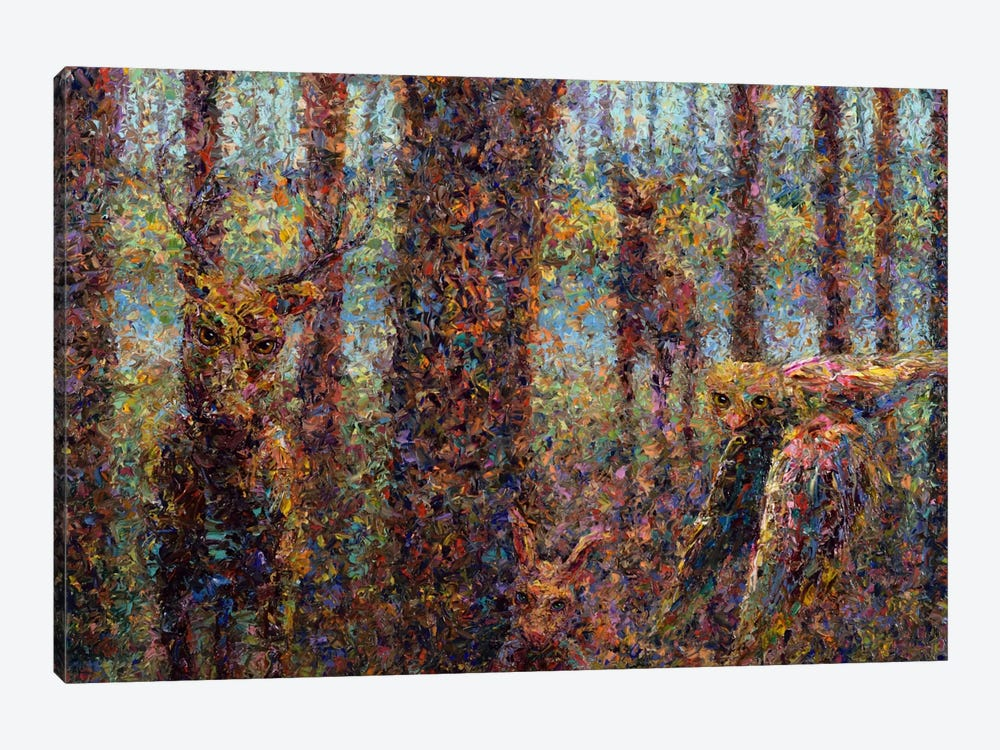 Encounter by James W. Johnson 1-piece Canvas Print